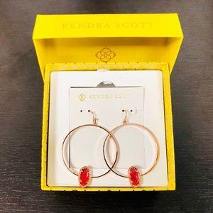 KENDRA SCOTT • Elora Hoop Earrings • Rose Gold